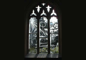 Whistler's magnificent engraved glass in Moreton Church